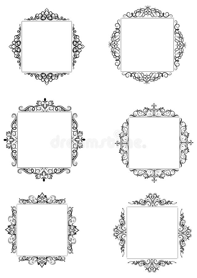 Vintage baroque frame royalty free illustration