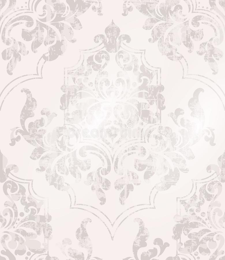Vintage Baroque ornamented background Vector. Victorian Royal texture. Flower decorative design. Pink color decors. Vintage Baroque ornamented background Vector vector illustration