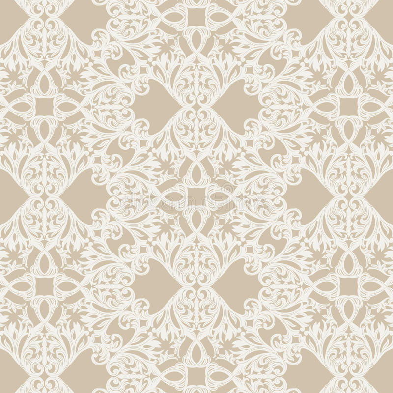 Vintage Baroque Rococo ornament pattern stock illustration