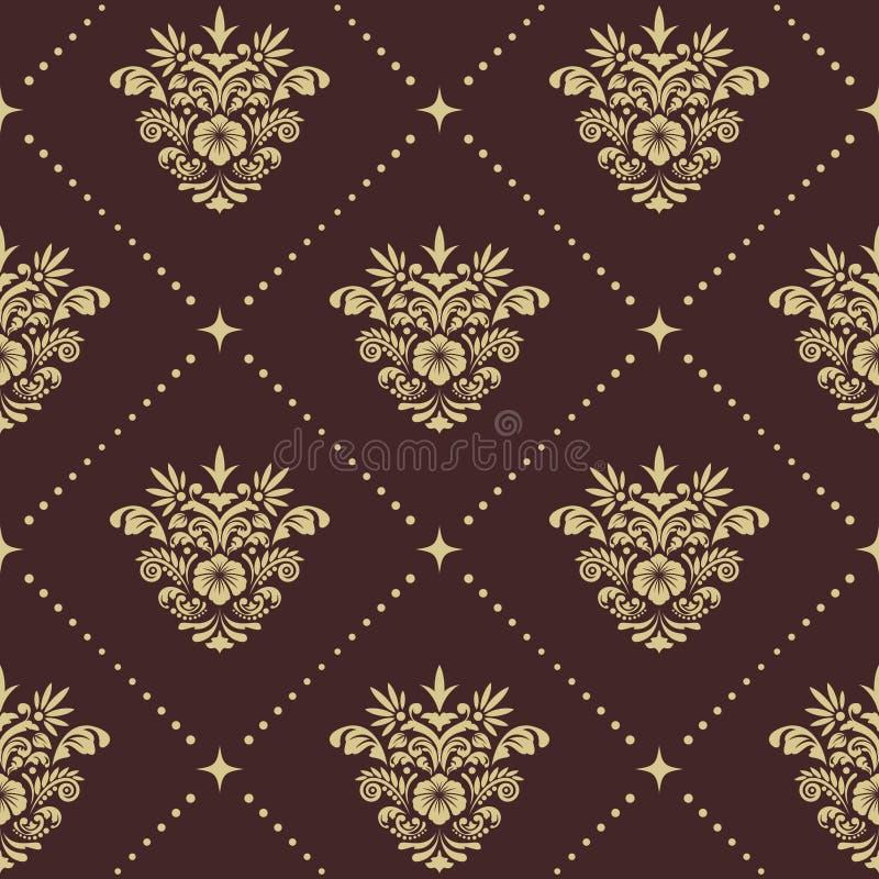 Vintage baroque seamless pattern royalty free illustration