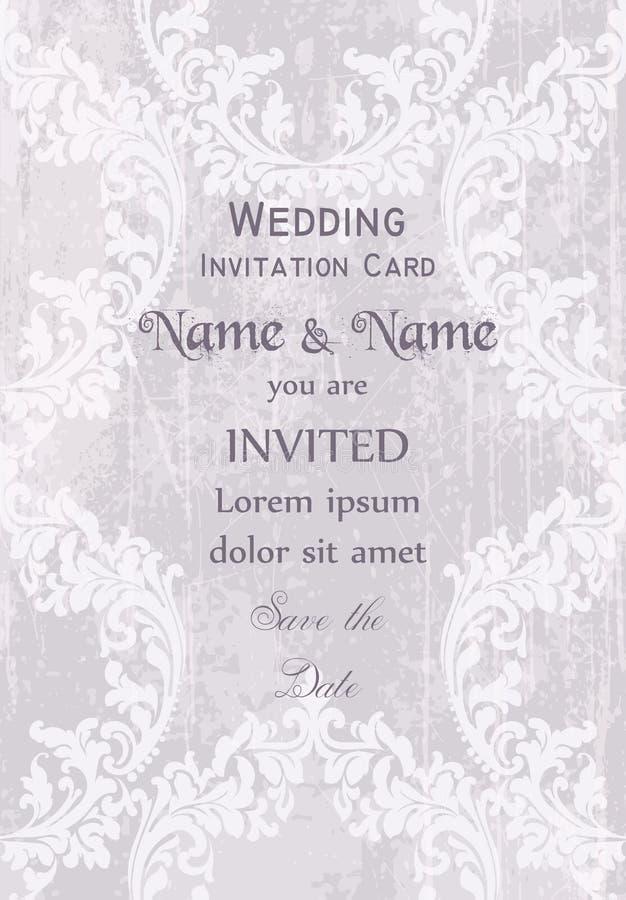 Vintage Baroque Victorian Invitation card Vector. Floral ornament decoration. Light pink colors. Vintage Baroque Victorian Invitation card Vector. Floral vector illustration