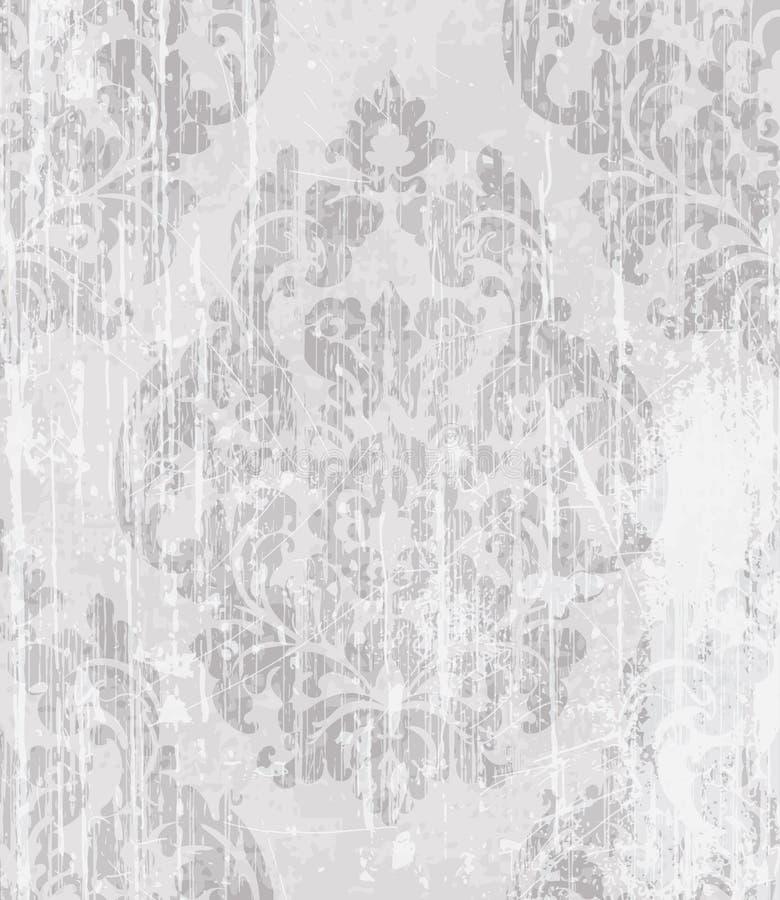 Vintage Baroque Victorian pattern Vector. Floral ornament decoration. Leaf scroll engraved retro grunge texture design. Light soft. Vintage Baroque Victorian royalty free illustration