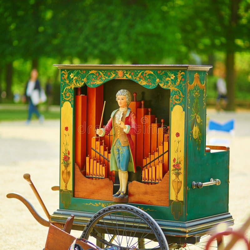 Vintage barrel organ royalty free stock images