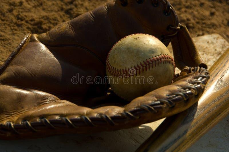 Vintage baseball and bat royalty free stock photos