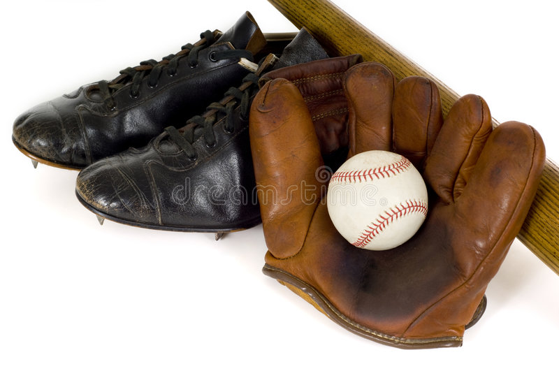 Download Vintage Baseball Equipment stock photo. Image of obsolete - 4114788