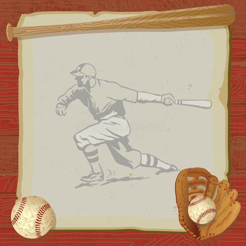 Download Vintage Baseball Party Invitation Card Stock Vector