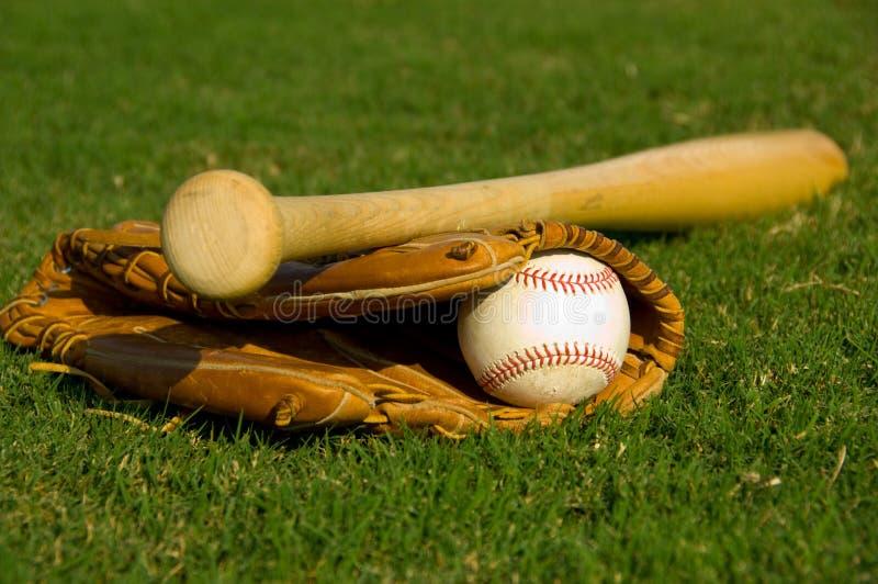 Vintage baseball supplies stock images