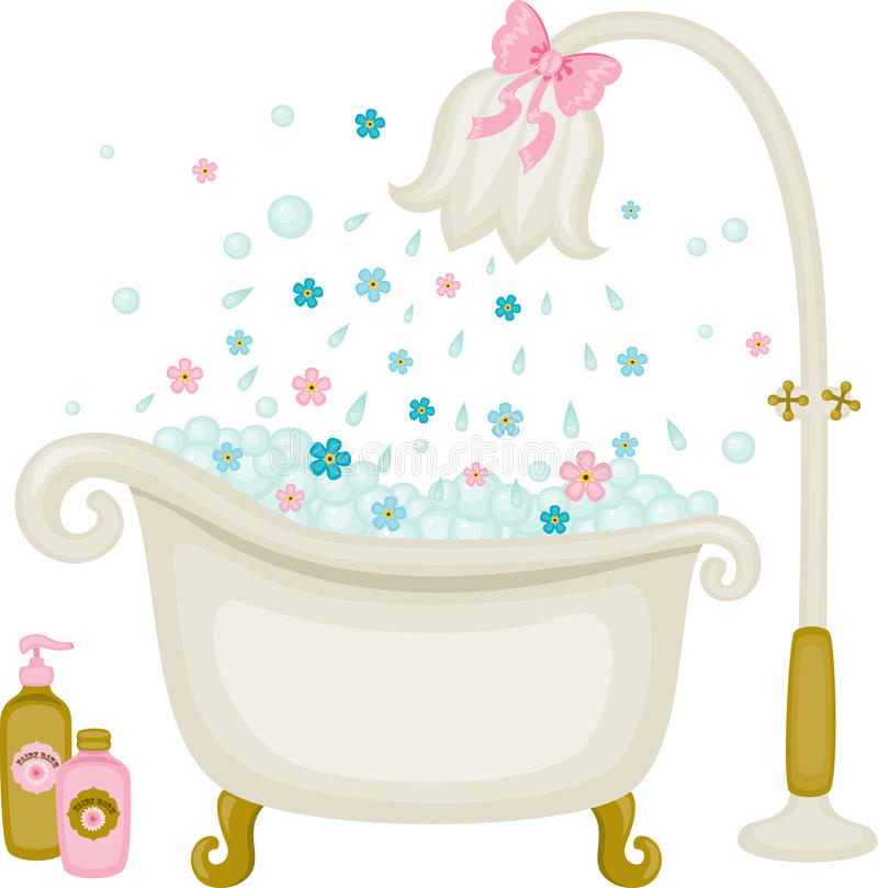 Vintage Bath Illustration Stock Vector. Illustration Of