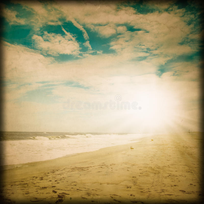 Download Vintage Beach stock photo. Image of sandy, scenic, holiday - 32468684