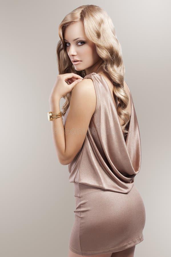 Vintage beautiful blonde woman royalty free stock photos