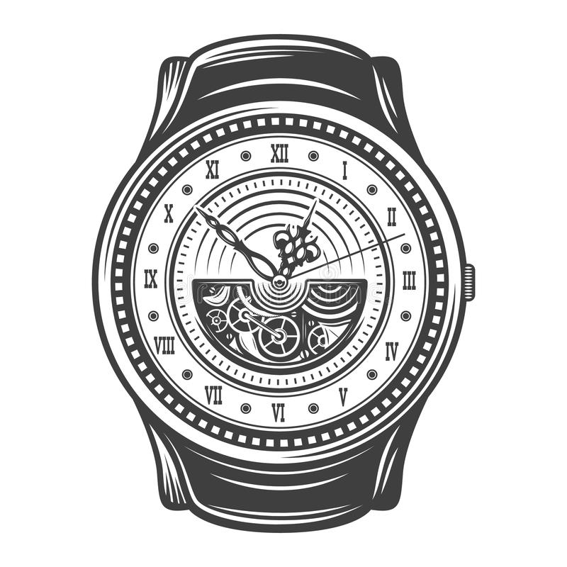 Vintage Beautiful Watches Design Concept vector illustration