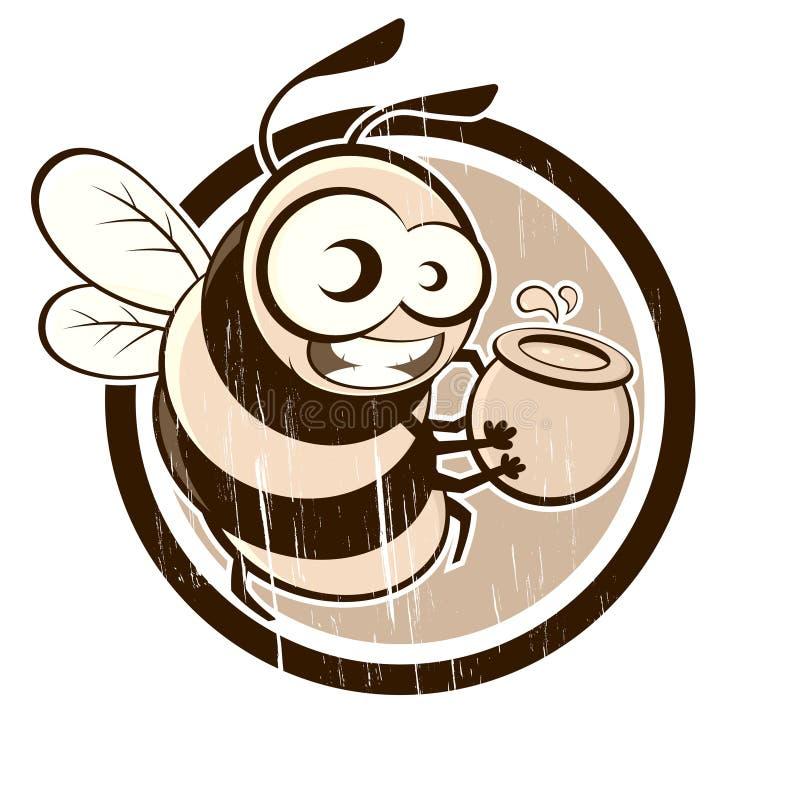 Download Vintage bee stock vector. Image of honey, black, honeybee - 24594060