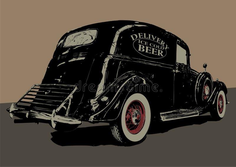 Download Vintage beer delivery car stock vector. Image of antique - 9264907