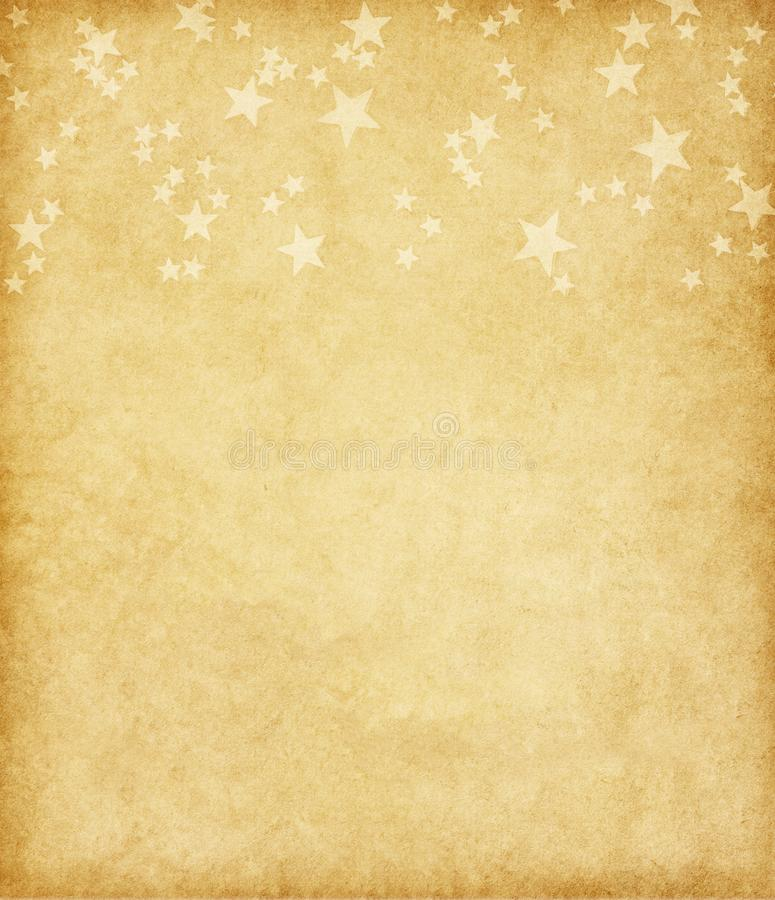 Vintage paper with stars. royalty free stock photography