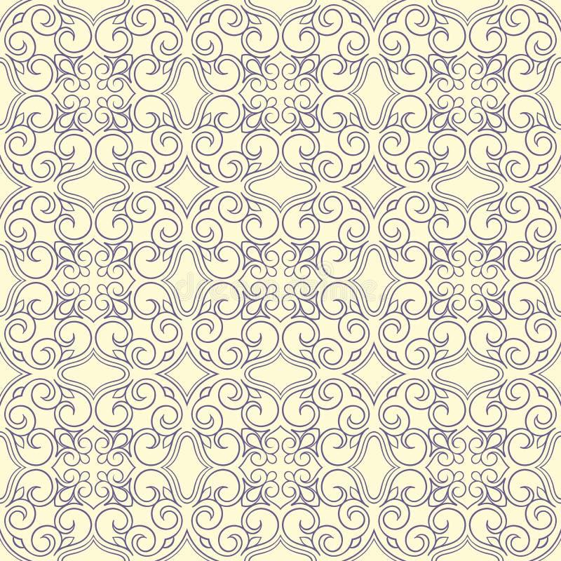 Vintage beige and purple pattern stock illustration