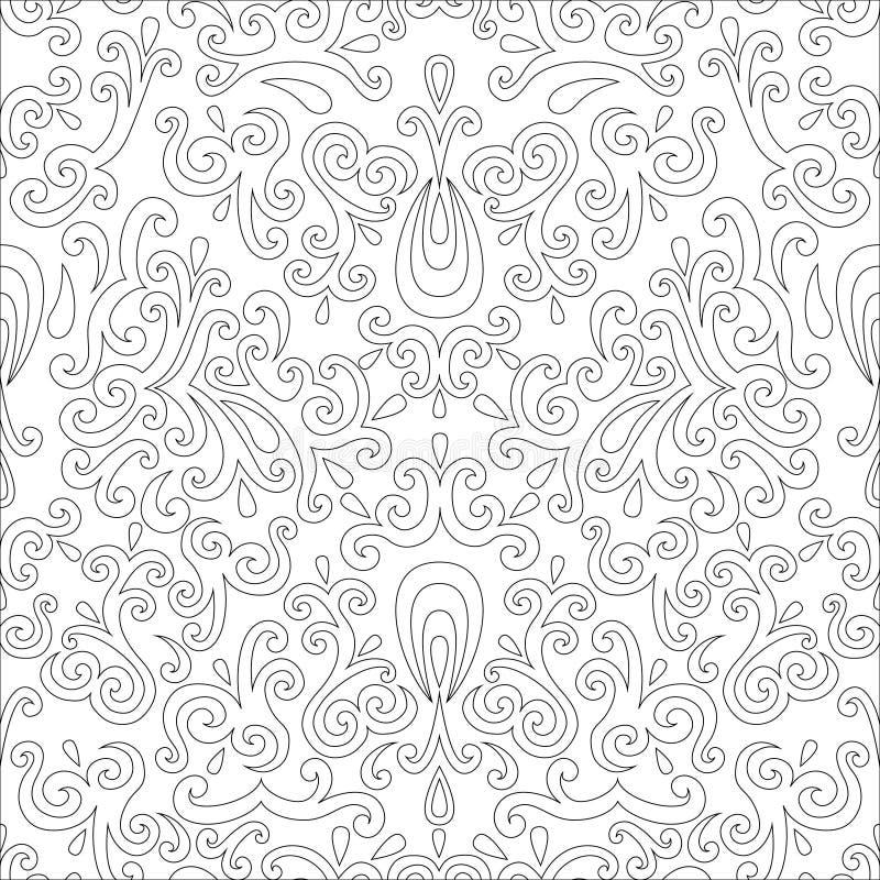 Vintage beige seamless pattern, ornamental vector background. In neutral color vector illustration