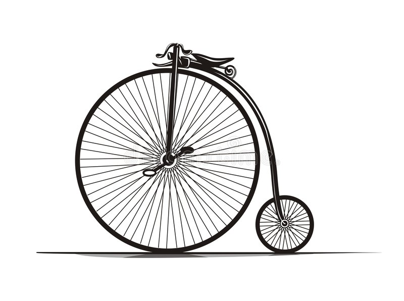 Vintage Bicycle stock illustration