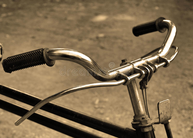 Vintage bicycle. stock images