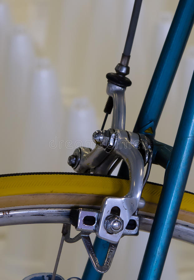 Vintage bicycle component CAMPAGNOLO: Front wheel brake stock image