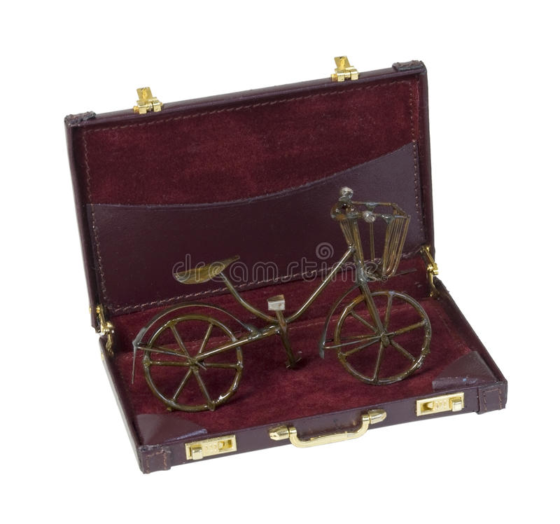 Vintage Bike in a Briefcase stock images