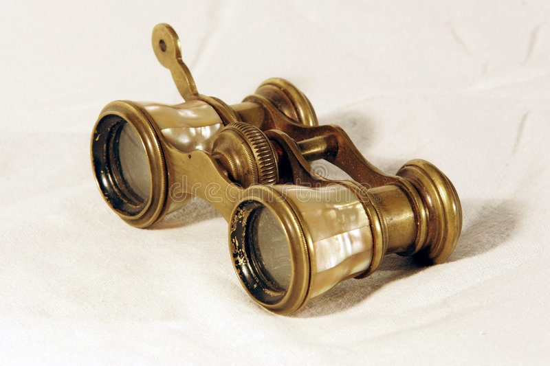 Download Vintage binoculars stock image. Image of clipped, gold - 1714739
