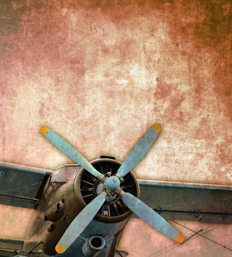 Vintage biplane. Vintage photo of an old biplane royalty free illustration