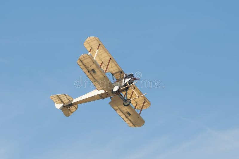 Vintage biplane. Vintage linen covered biplane circa WW1 era stock photo