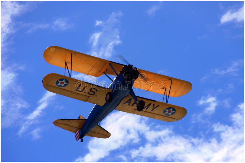 Vintage Biplane royalty free stock photos