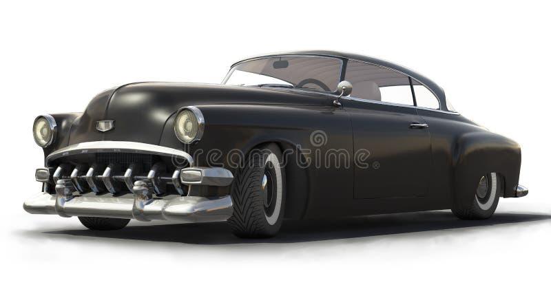 Vintage Black car 3D model royalty free illustration