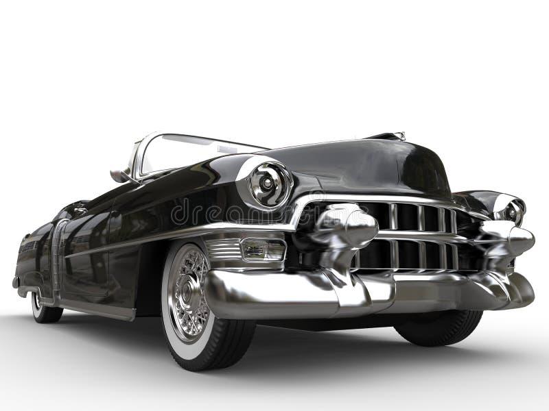 Download Vintage Black Car - Extreme Closeup Shot Stock Illustration - Image: 83718273