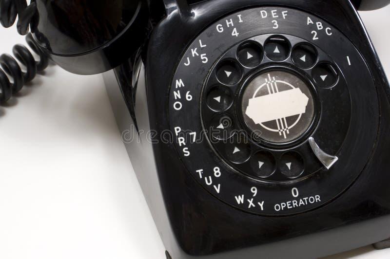 Vintage Black Desk Phone royalty free stock image