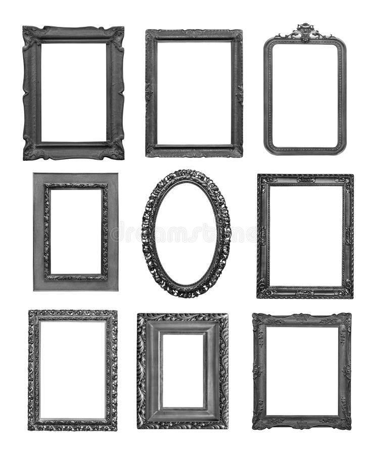 Vintage black frames stock images