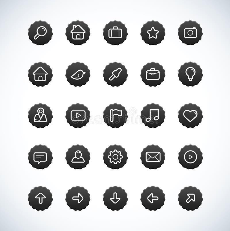 Download Vintage Black Icon Set stock vector. Illustration of bubble - 23935355