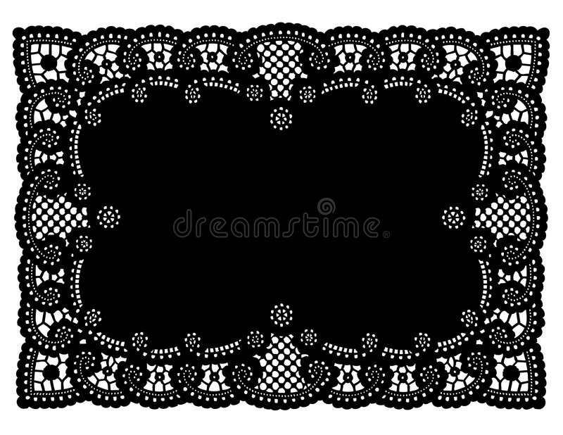 Vintage Black Lace Doily Place Mat Stock Vector Image