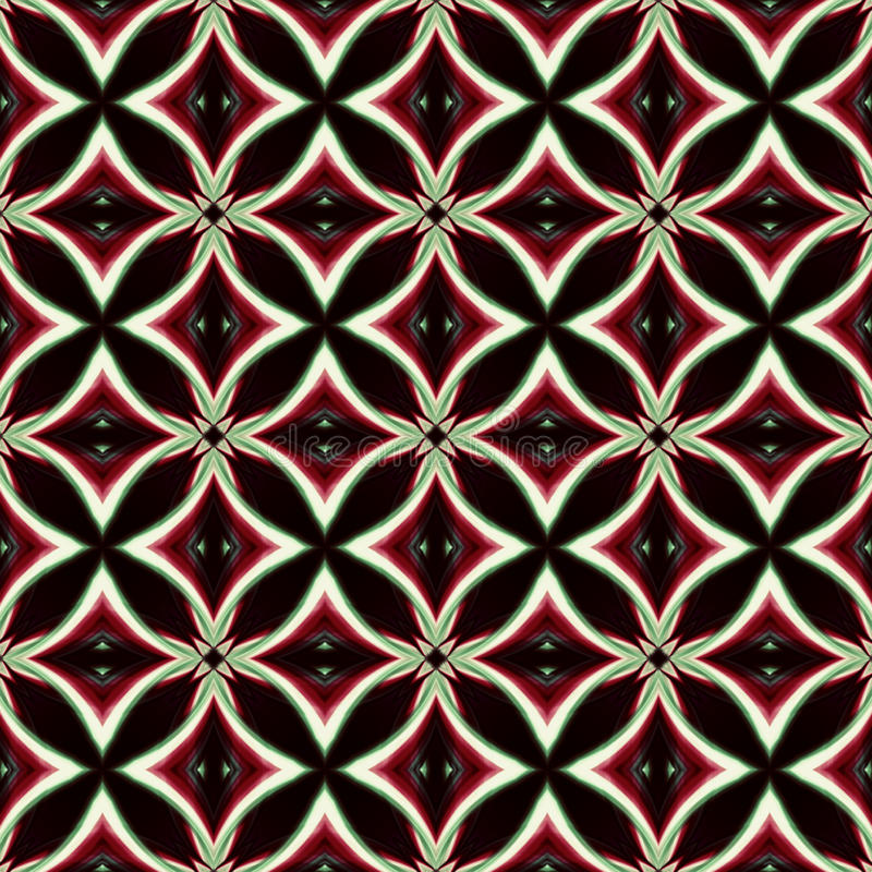 Vintage black red white oriental kaleidoscope background with ci vector illustration