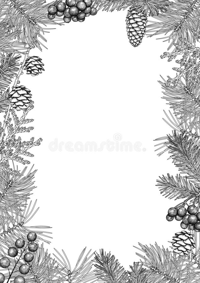 Vintage black and white frame. royalty free stock photography