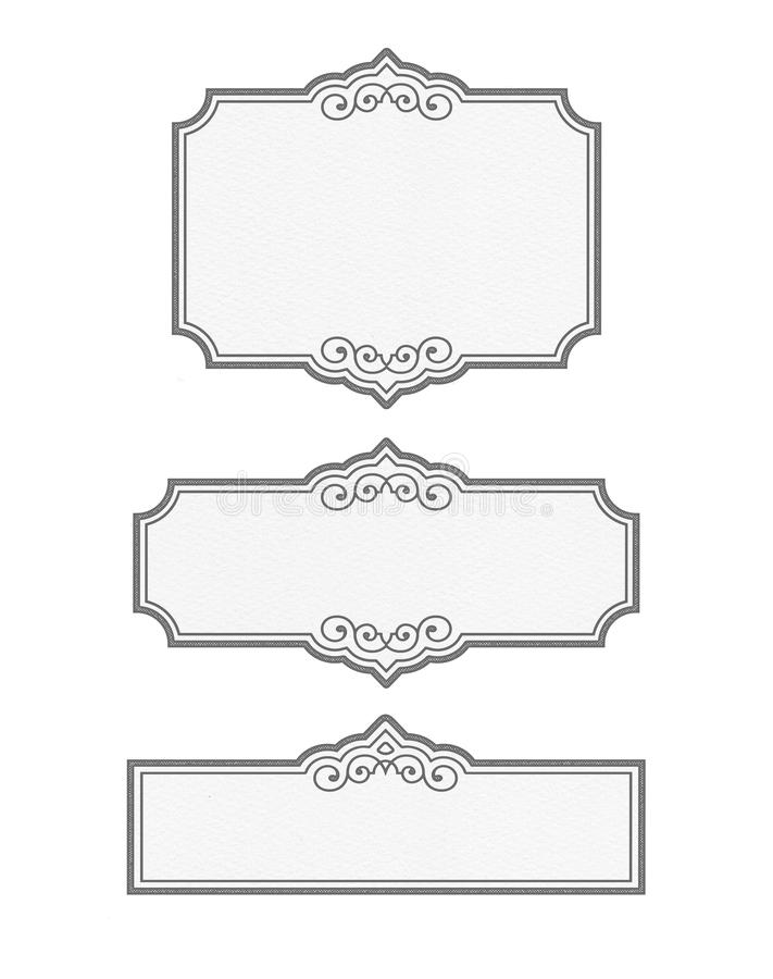 Vintage Black and white Pantry LABEL BLANKS - customizable collection vector illustration
