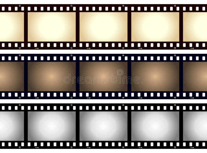 Vintage Blank Film Strip Frame royalty free illustration
