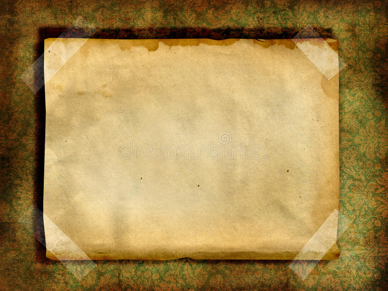 Vintage blank page royalty free illustration