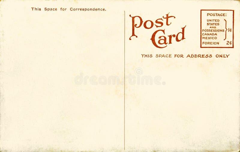 Vintage Blank Postcard Stock Photos