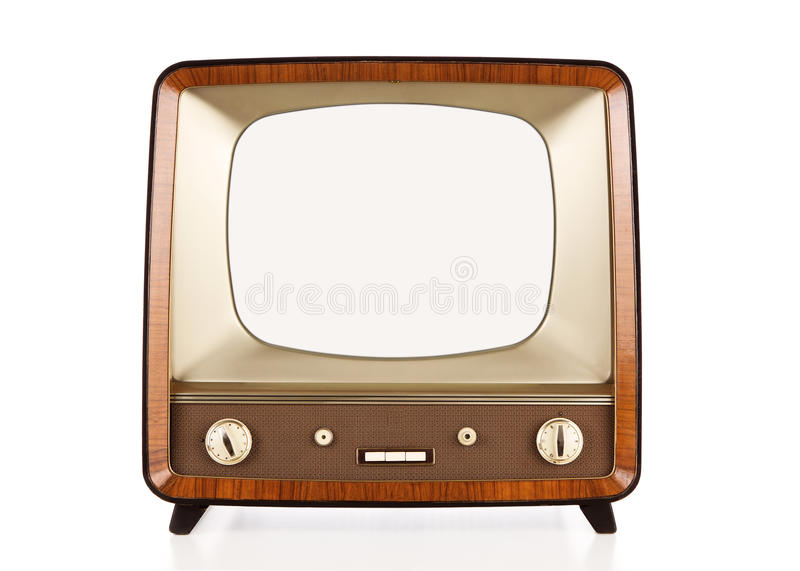 Download Vintage blank tv with path stock illustration. Illustration of background - 22831891