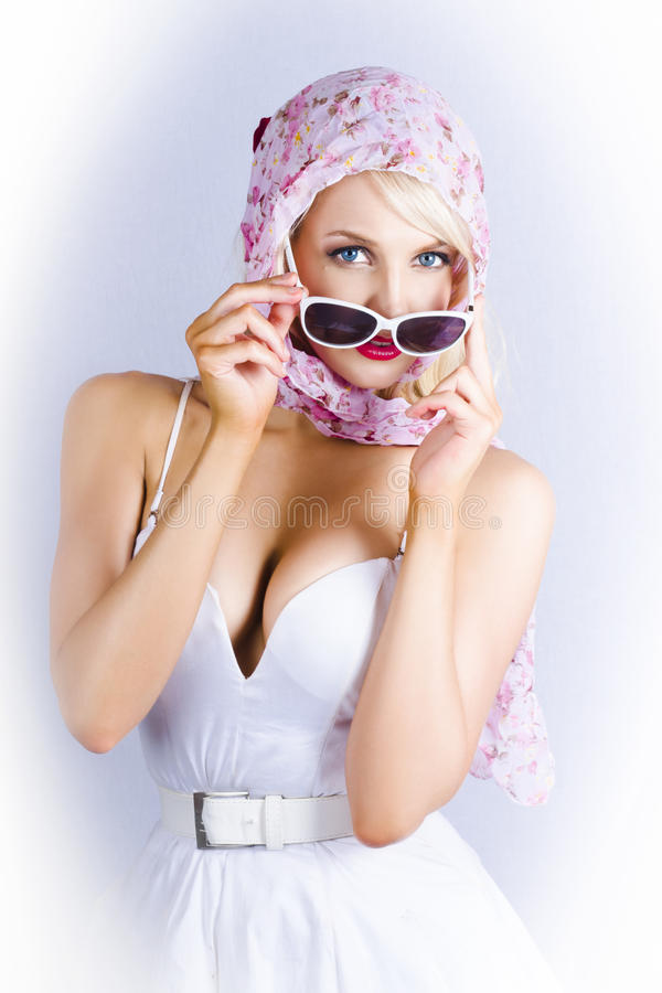 Vintage Blond Beauty In Pinup Fashion Accessories Stock Photo Image 29120030