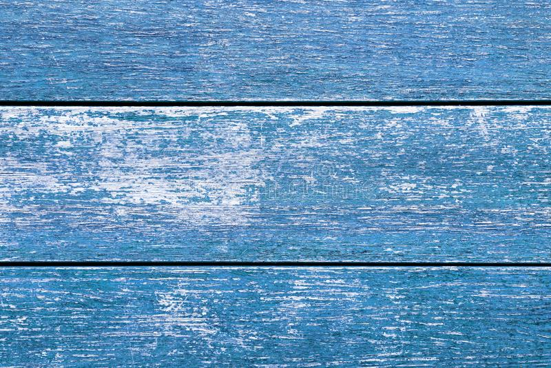 Vintage Blue Distressed Wood Background. Top view image stock image