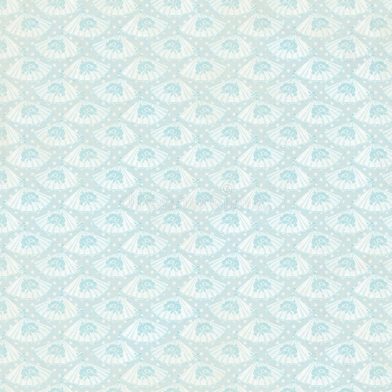 Vintage Blue Fan Background Repeat Wallpaper Stock Photography