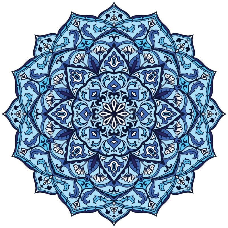 Vintage blue mandala stock vector illustration of ornate - Tappeto mandala ...
