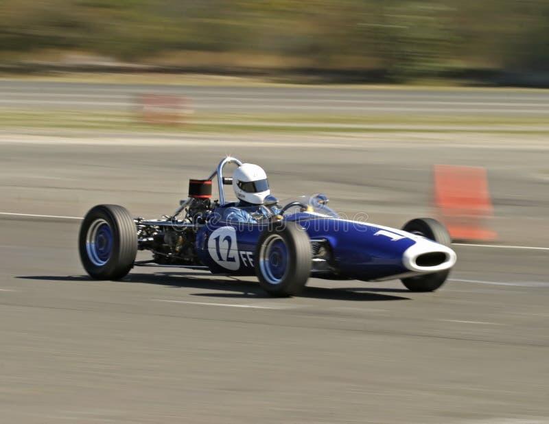 Vintage blue race car royalty free stock image