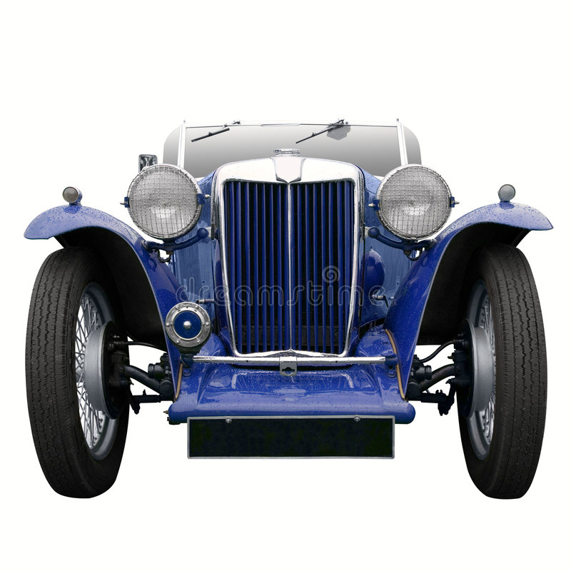Free Vintage Blue Sports Car Royalty Free Stock Images - 4099109