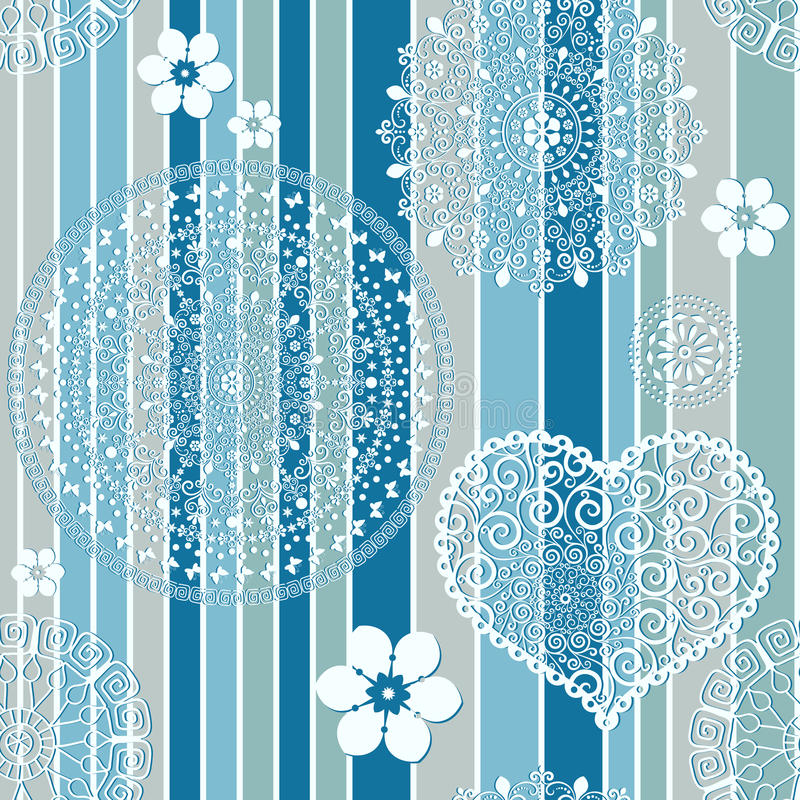 Download Vintage Blue Striped Seamless Pattern Stock Vector