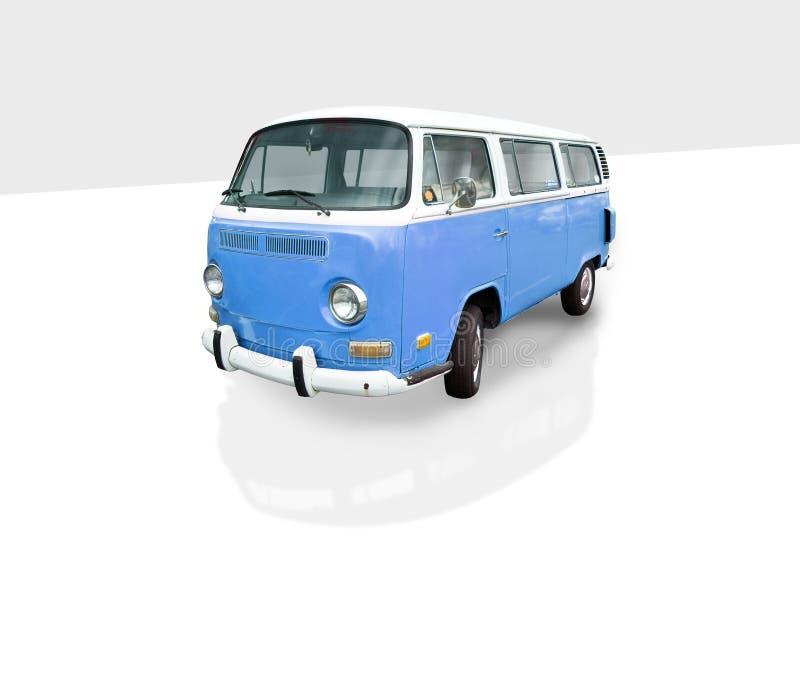 Vintage blue van stock photography