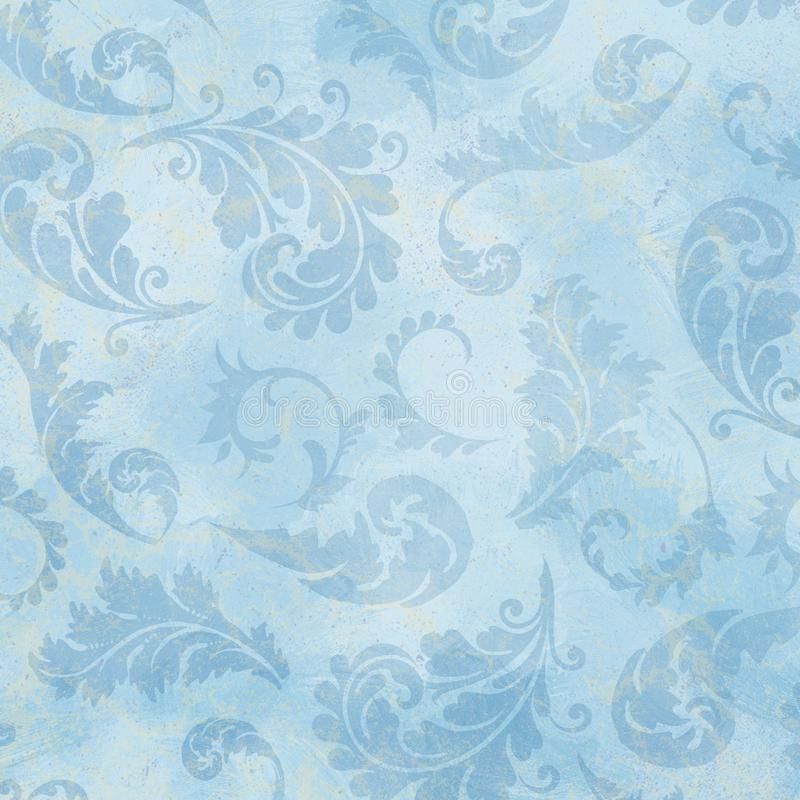 Free Vintage Blue Vine Patterned Background - French Provencial Style - Provence Royalty Free Stock Image - 139985836